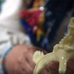 Украшение гуцульской избы — фигурки из сыра (съедобные)