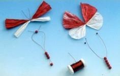 Бабочки из бумаги. Материалы и пошаговый процесс изготовления