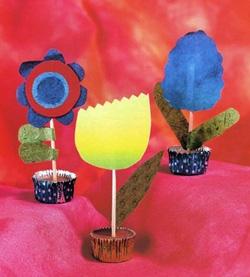 Простые самодельные цветы из бумаги для детей
