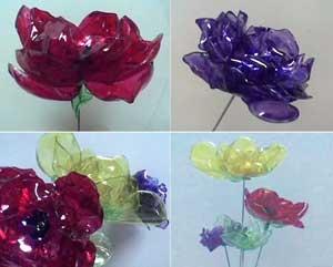 Розы из пластиковых бутылок своими руками