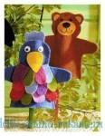 Поделки из фетра, игрушки Ворона и Медведик