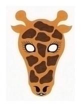 Детская карнавальная маска Жираф из бумаги