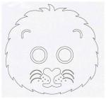 Выкройка детской карнавальной маски хомячка из бумаги