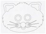 Выкройка карнавальной маски из бумаги