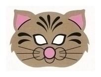 Детская карнавальная маска Кот из бумаги