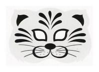Карнавальная маска кота из бумаги