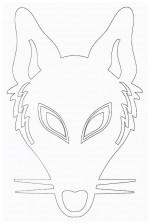 Выкройка детской карнавальной маски лисы из бумаги