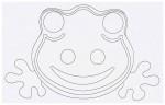 Выкройка детской карнавальной маски лягушки из бумаги