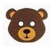 Детская карнавальная маска Медведя из бумаги