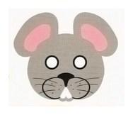 Детская карнавальная маска Мышь из бумаги своими руками