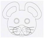Выкройка детской карнавальной маски мыши из бумаги