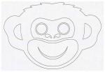 Выкройка детской карнавальной маски обезьянки из бумаги