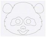 Выкройка детской карнавальной маски панды из бумаги