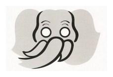 Детская карнавальная маска Слон из бумаги