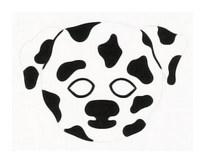 Детская карнавальная маска Собака Далматин из бумаги