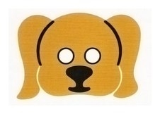 Детская карнавальная маска Собака Спаниель из бумаги