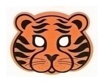 Детская карнавальная маска Тигр из бумаги