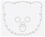 Выкройка детской карнавальной маски из бумаги