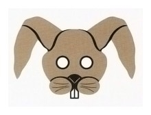 Детская карнавальная маска Заяц из бумаги