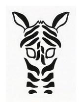 Детская карнавальная маска Зебра из бумаги