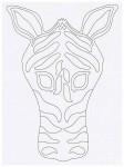 Выкройка детской карнавальной маски зебры из бумаги