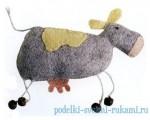Фото коровы из фетра, которую можно сделать своими руками