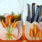 Весенние корзинки в форме тюльпанов. Прекрасная поделка для дома своими руками!