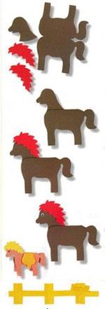 Как сделать из бумаги лошадку