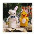 Забавные пасхальные игрушки из фетра