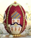 Пасхальные яйца из бисера своими руками. Храм.