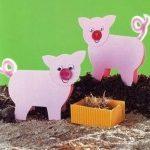 Поросенок бумажный с «Веселой фермы». Сделайте его своими руками вместе с детьми