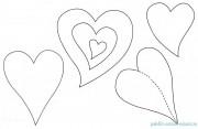 Выкройка сердечек (своими руками из фетра, из бумаги, из шелка или другой ткани)