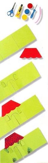 Как сделать домик из бумаги своими руками, пошаговое описание с фото