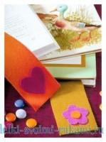 Закладки из фетра - легкая поделка, которую можно сделать своими руками вместе с детьми