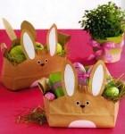 Идеи упаковки к Пасхе - бумажный пакет с зайцем своими руками