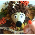 Поделка «Ёжик из шишек» на тему осень