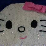 Вязаная шапка Hello Kitti — мастер-класс
