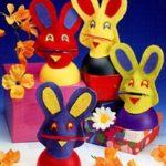 Пасхальные яйца «Зайцы» своими руками